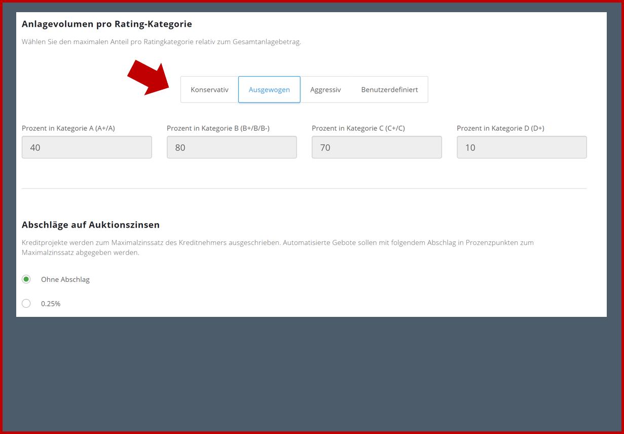 Anlagevolumen pro Ratingklasse-1