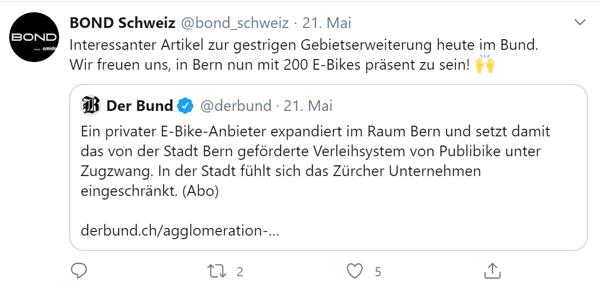 Bond in Bern swisspeers Crowdlending