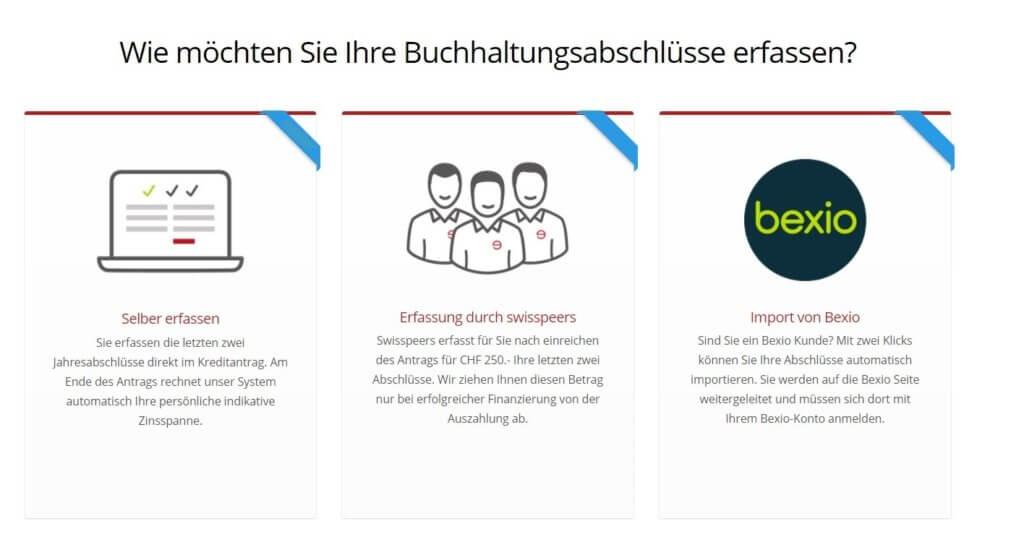 Bexio Integration für Firmenkredite