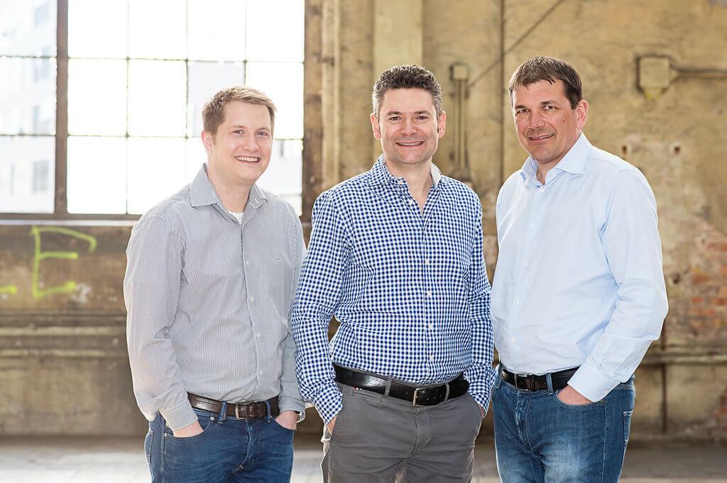 Das Team desFintech Crowdlending Startups Swisspeers.ch: v.r. Stefan Nägeli, Alwin Meyer, Andreas Hug
