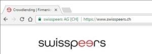 swisspeers URL im Browser Chrome