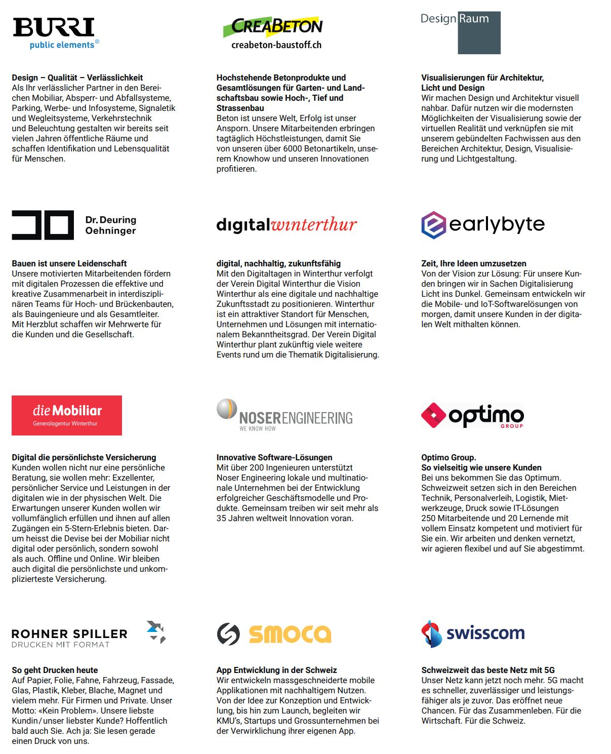 11 Firmen: Verbund des Vereins Digital Winterthur