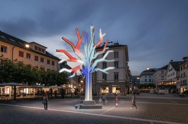 Visuaisierung Plantoid am Neumarkt Winterthur