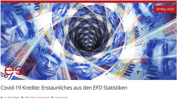 Covid 19 Kredite EFD Statitiekn