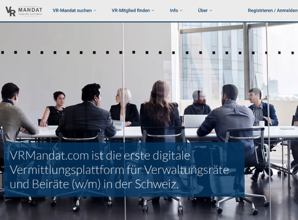 VRMandat.com ist die erste digitale Vermittlungsplattform für Verwaltungsräte und Beiräte.